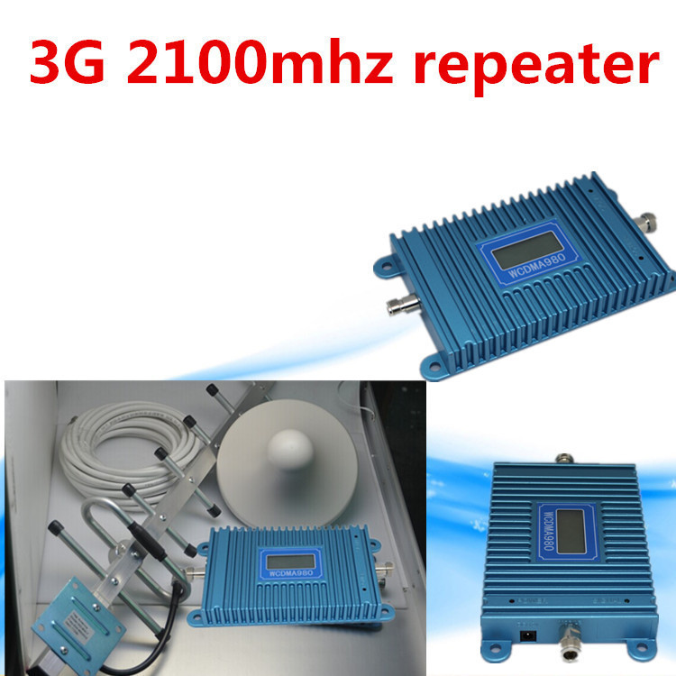 Best Price W-CDMA 2100Mhz 3G Repeater Mobile Phone 3G Signal Booster WCDMA Signal Repeater Amplifier + Cable + Antenna(China (Mainland))