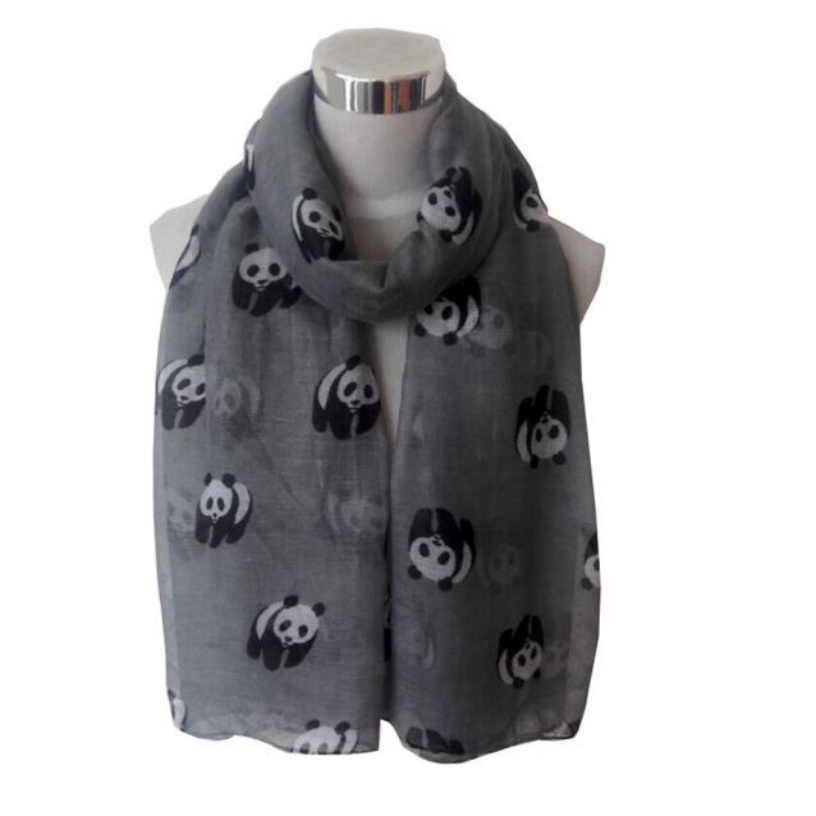 Best Deal Fashion New Women Ladies Spring Cute Panda Print Long Scarf Soft Warm Wrap Shawl Gift 1PC(China (Mainland))