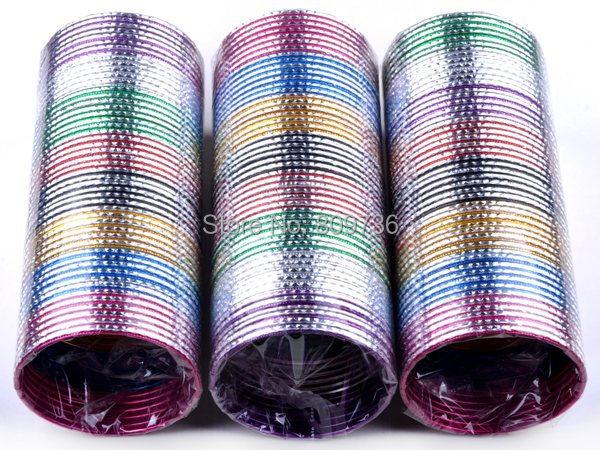 50pcs/lot Wholesale Loop Bracelet Indian Dance Thin Bangle Cuff Chromatic Aluminum Craved Charm Bracelet Women Jewelry Drop Free(China (Mainland))