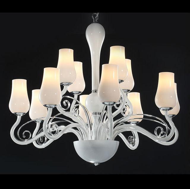 Qi lang fascino genuino biancaneve lampadario in vetro artistico ...
