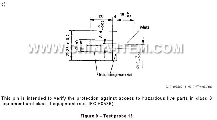 IEC 61032 Test Probe 13 Meets IEC CSA & UL Requirements, Supplier Wholesale Precision Test Probes IEC 61032 Short Probe 13