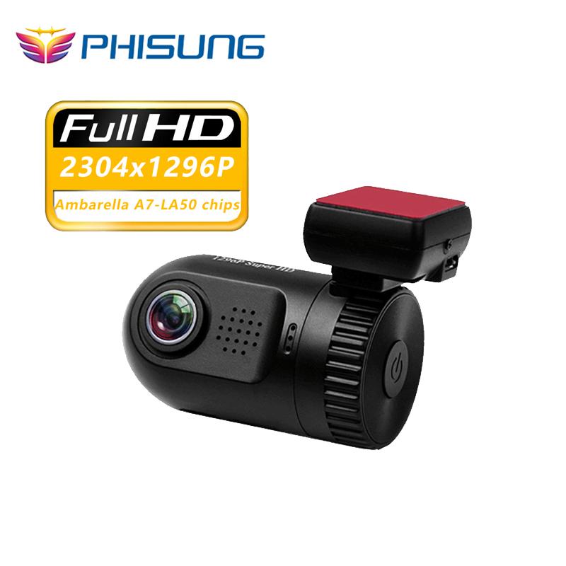 "Ambarella A7 chips FHD1296p Car DVRS 1.5""LCD Auto Video Recorder Night vision Blackbox Dash cam Mini0805 with GPS logger(China (Mainland))"