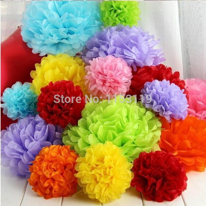 how to make large tissue paper balls