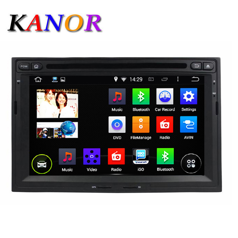 kanor 1024x600 android 5 1 car dvd stereo for peugeot 3008 5008 partner berlingo auto radio rds. Black Bedroom Furniture Sets. Home Design Ideas