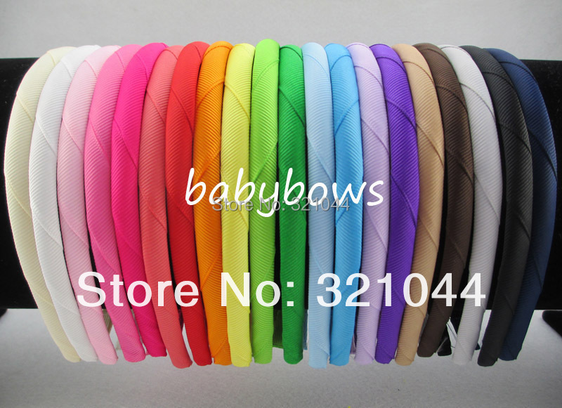 120pcs/lot Grosgrain Ribbon Covered Resin Hairband,Boutique Kids Plastic Headbands Girls Headwear Baby Headbands Free Shipping(China (Mainland))