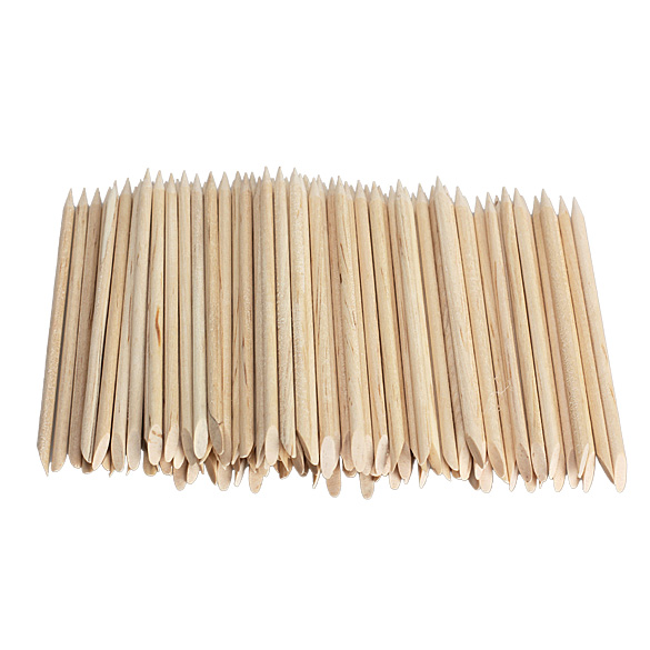 Free Shipping 100pcs Nail Art Orange Wood Stick Cuticle Pusher Remover for Manicures K5BO(China (Mainland))