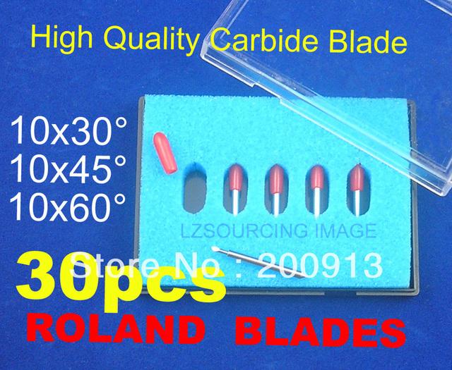 30 pc (30 Degree 45 Degree 60 Degree) High Quality Cutter Blade blades for Roland liyu GCC Yinhe Cutting plotter vinyl cutter