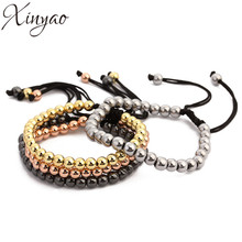 Buy 2017 Anil Arjandas Gold Color Copper Hematite Beads Bracelets New Handmade Braiding Macrame Bracelet Men Women Pulseras Mujer for $4.00 in AliExpress store