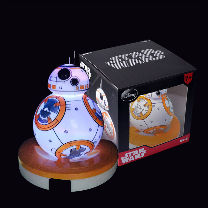New Star Wars The Force Awakens Action Toy Figure BB-8  Star Wars Anime Figure BB8 BB-8 Droid PVC Figures  Star Wars Night Light
