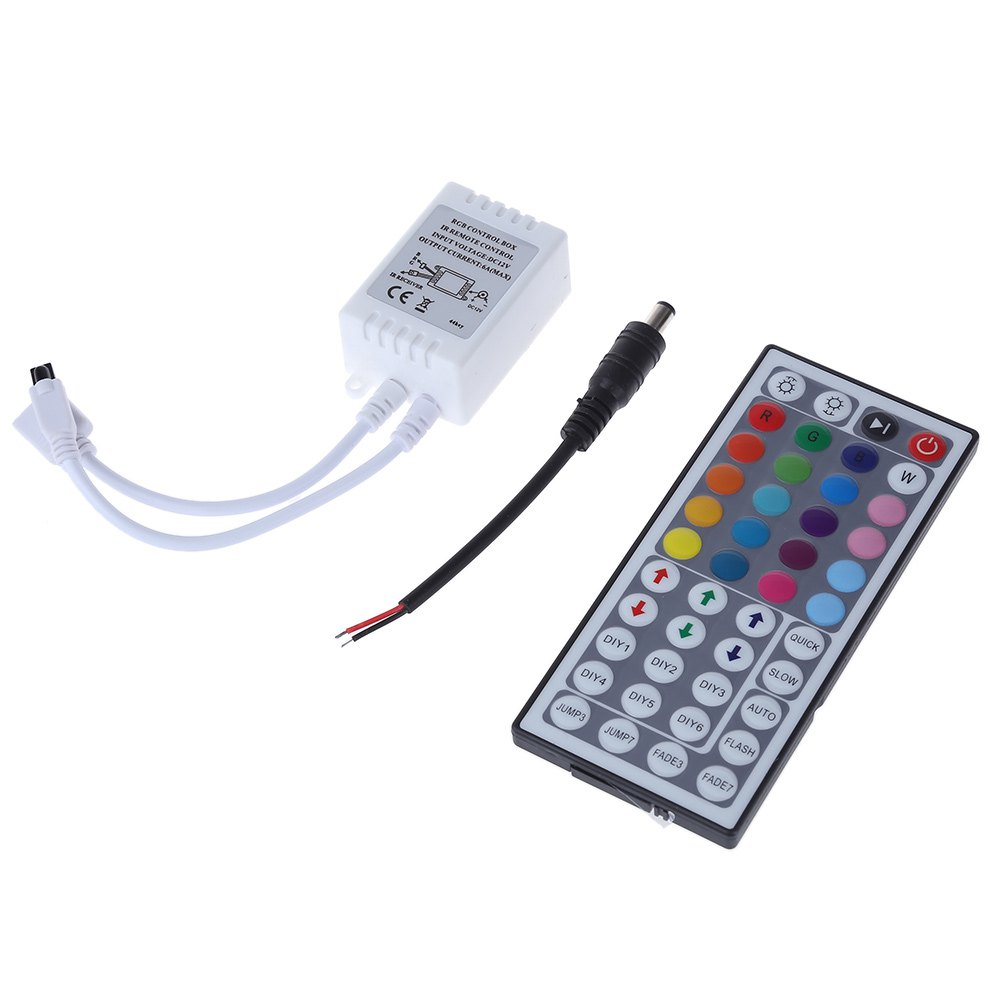 New Arrival RGB Controller Touch Panel Control 44 Key IR Remote Controller For RGB LED Strip Lamp With 6 DIY Keys(China (Mainland))