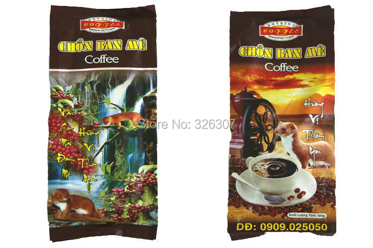 Vietnam kopi luwak luwak coffee powder blend kopi luwak flour non instant coffee powder 500g