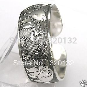 Venta al por mayor 10 unids < 5 par > pulseras de hombre elegante tibetana plata de tíbet el sol del brazalete de la pulsera ajustable de Unique ( A04(China (Mainland))
