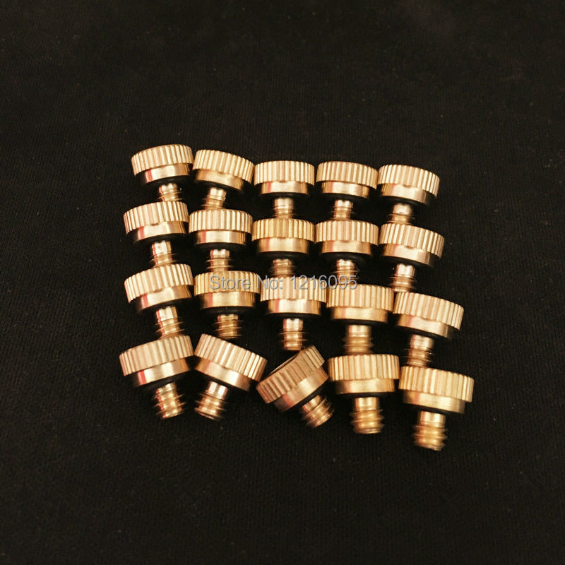 20PCS Low Pressure Brass Misting Nozzles For Garden Roof Home Cooling  Systerm 0.1/0.2/0.3/0.4/0.5/0.6/0.7/0.8mm Hole