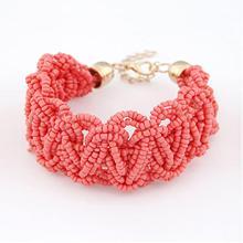 New Bohemia Retro Bracelet For Women Pure Handmade Bead Multicolor Charm Vintage Cuff Bracelets Bangles Fine