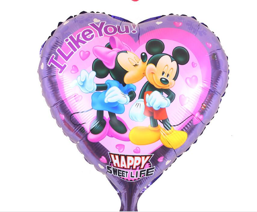 Free shipping18inch Mickey Mouse foil balloon party decoration foil balloon hot air balloon(China (Mainland))