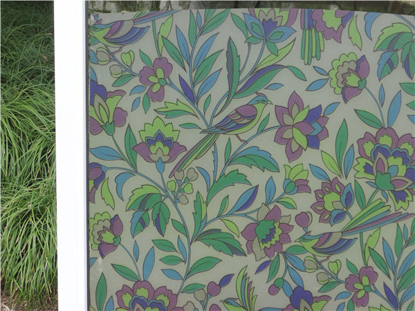 Stained Glass Window Film Self-adhesive Cling Privacy Home Balcony Sliding Door 3K052(China (Mainland))