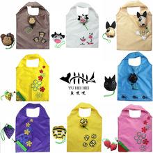 Cartoon Tote Shopping Bag Monkey Pig Cow Dog Foldable Shopping Bags eco Reusable Folding Recycle Shopping Bag 12KG Bearing(China (Mainland))