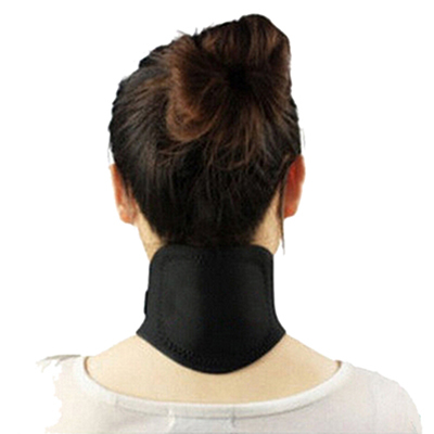 Holiday sale Neck Massager Magnetic Therapy Neck Spontaneous Heating Headache Belt Body Massager(China (Mainland))