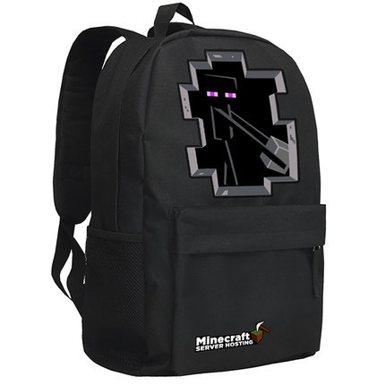 New Arrival Minecraft Backpacks Schoolbag Minecraft Enderman Backpack for unisex limit bolsas GAME Gifts Free Shipping(China (Mainland))