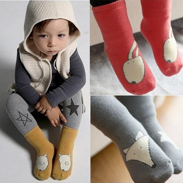 2016 вязать лиса собака кролик носки для новорожденных повседневная meias infantil ...