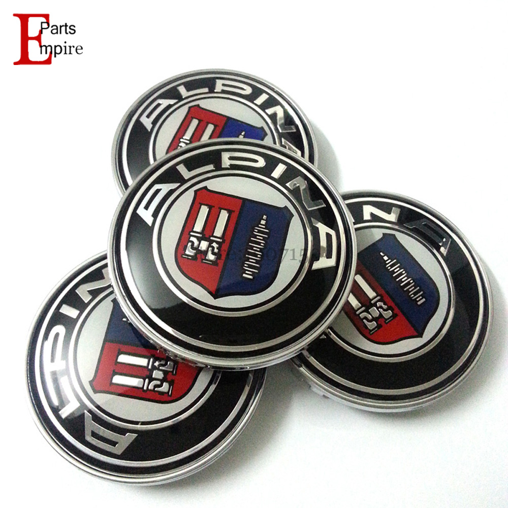 Auto Supplies 20pcs/lot for BMW ALPINA Logo 68mm Wheel Center Caps Badge Parts For BMW X3 X5 F10 F30 E39 E46 E60 E61 E90 M3 Etc.(China (Mainland))