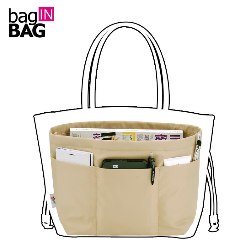 Baginbag Women Organizer Travel Pockets Handbag Heighten Style Tote Style Storage Bag 4 Colors Large Capacity Casual Bag In Bag(China (Mainland))