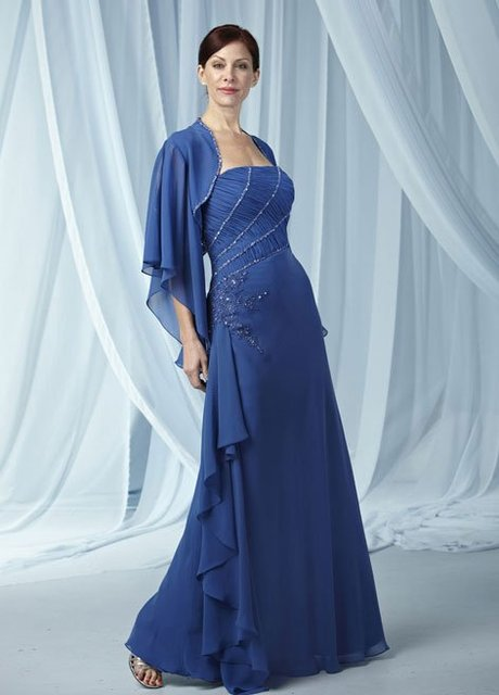 2013 Free shipping!New arrvial !blue full-length embroidery lace beaded jacket mother of the bride dress