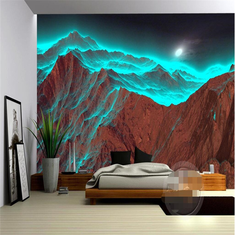 Custom photo wall mural 3d wallpaper luxury quality hd for Mural unique