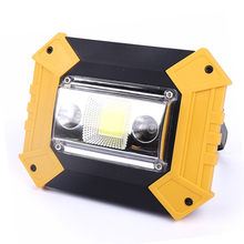 Portable Spotlight USB Led Work Lamp Worklight Flashlight Rechargeable 18650 Battery Outdoor Camping Hunting Emergency Lighting(China)