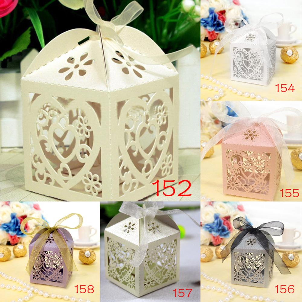 10Pcs/set Love Heart Party Wedding Hollow Carriage Baby Shower Favors Gifts Candy Boxes Free Shipping(China (Mainland))