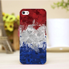 pz0005-30 French flag Design Customized cellphone transparent cover cases for iphone 4 5 5c 5s 6 6plus Hard Shell