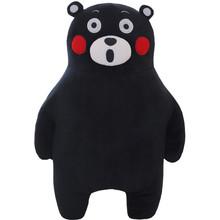 2016 New Arrival 50cm Cute Smile Laugh kumamon Bear Plush Toys Japan Style Black Bear Stuffed Doll Pillow cushion Kids Toy