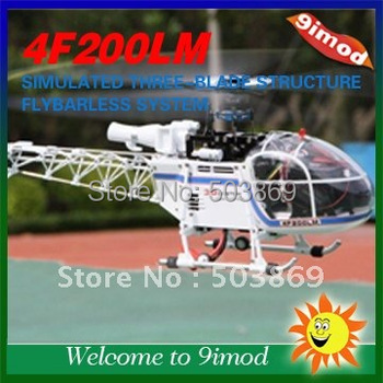 Best Price for Hot sales ! Walkera 4F200LM Metal Flybarless RC Helicopter( Blue and Silver color)