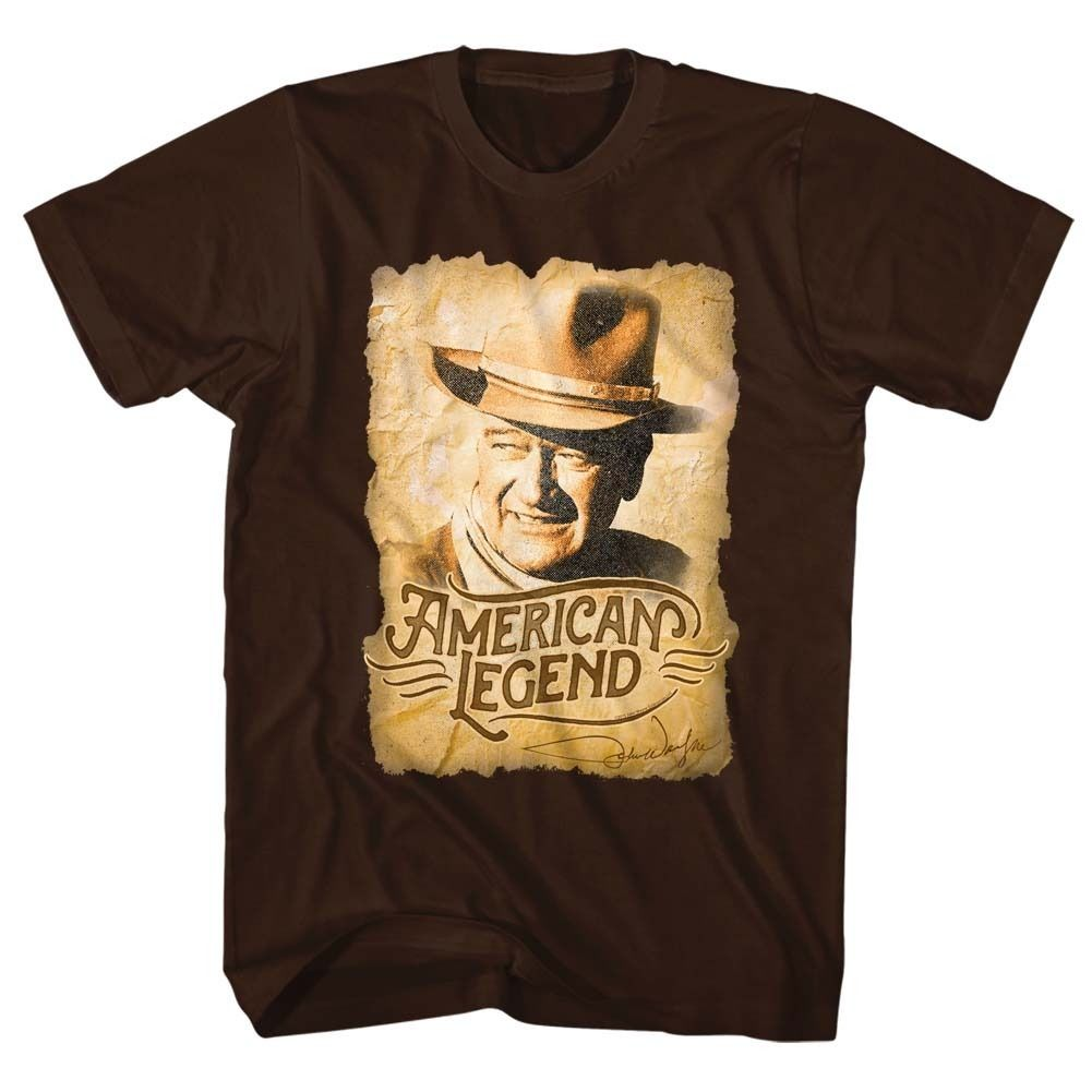 John Wayne American Legend Cowboy Licensed Adult Shirt S-XXL Free Shipping(China (Mainland))