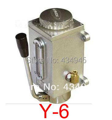 Y-6 Manual Lubrication oil Pump (Oil Pump with 6 discharge bore),Hand pressure oil pump,Manual filling pump,500cc(China (Mainland))
