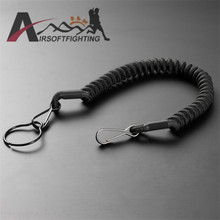 Anti-lost Elastic Lanyard Rope Tactical Retractable Nylon Elastic Security Gear Tool for Keychain Flashlight Outdoor Accessory(China (Mainland))
