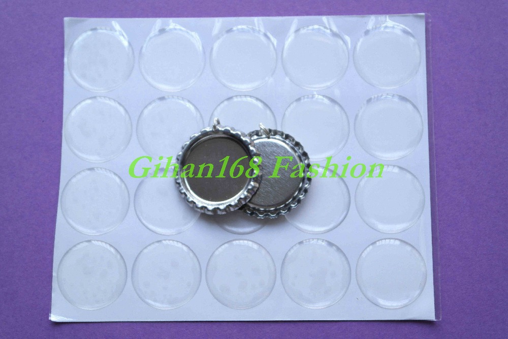 500pcs Silver Flattened Beer Bottle Caps With Hole/Ring + 500 1'' Round Clear Epoxy Stickers For DIY Crafts Jewelry Accessories(China (Mainland))