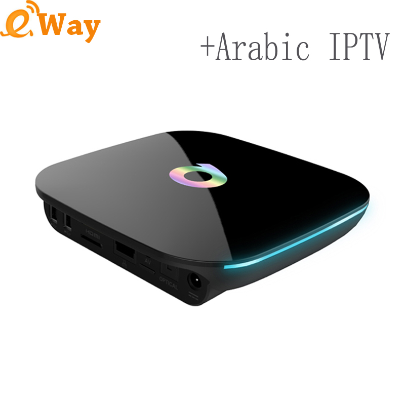 With one year arabic europe step iptv account subscription code Q Box quad core Android 5.1 TV box network media player 2GB 16GB(China (Mainland))