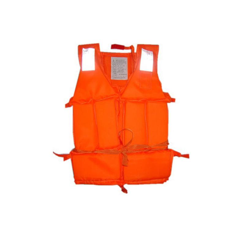 Light Foam Swimming drifting essential Useful Orange Adult Life Jacket Easy Flotation Swimming Vest+ Whistle(China (Mainland))