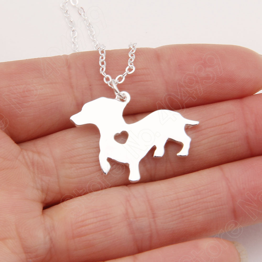 1pcs Dachshund Paw Lifted Necklace Dog Pet Memorial Gift Toy Dog Christmas Gift Necklaces & Pendants Women Animal Pendant Charms(China (Mainland))