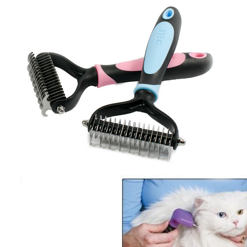Universal Cat Pet Dog Fur Shedding Remove Grooming Rake Comb Brush Pet Grooming Tick Remover Brush Dog Cat Long Short Hair(China (Mainland))
