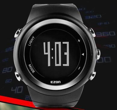 Sports watch Running Wristwatches Original EZON smart Step gauge Motion tracking 50m waterproof distance TPU strap free shipping
