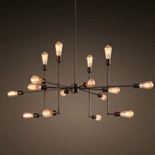 Free Shipping Vintage Retro RH Chandeliers16 Lights Led Edison Bulbs Dia 105cm E26 E27 Living Loft Lights Dia 75CM Retro Lamp(China (Mainland))