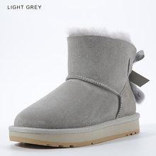 INOE vrouwen enkel winter snowboots schapenvacht lederen bont gevoerd en mink fur kwasten hoge kwaliteit schemering roze blackwinter schoenen TG1(China)