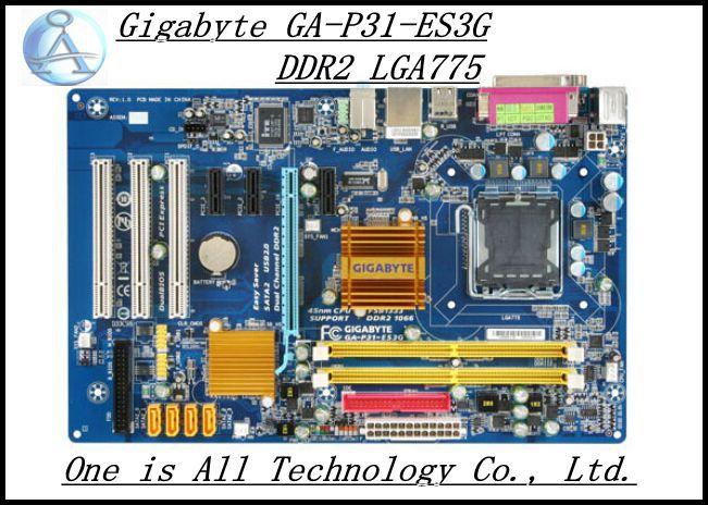 100% original Desktop Boards  Gigabyte GA-P31-ES3G  DDR2  All solid capacitors LGA775 Gigabit Ethernet motherboard free shipping
