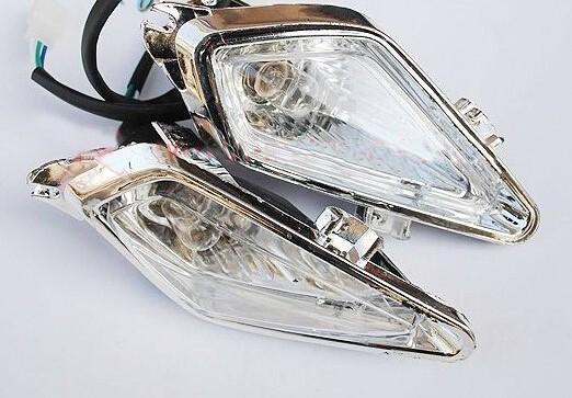 New Pair Of ATV Headlights With Light Bulbs 110cc-150cc-250cc SUNL ROKETA KAZUMA NST SILER(China (Mainland))