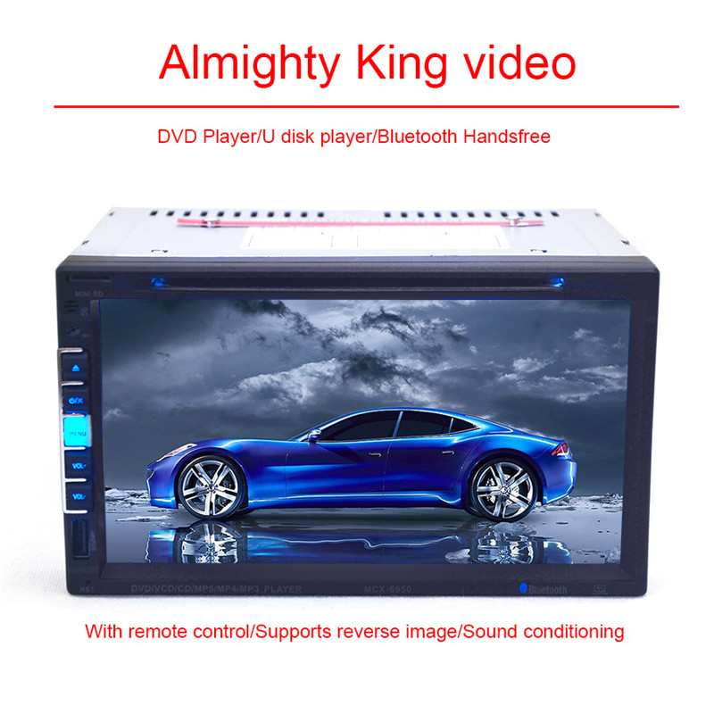 6.95 Inch Touch Screen Full HD 800*480 Pixels Bluetooth Car Stereo In-Dash Player Support CD SD USB Disk 2 Din Car DVD(China (Mainland))