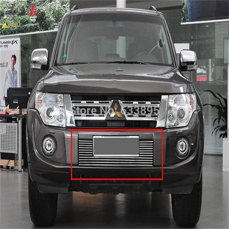 High quality stainless steel Front Grille Around Trim Racing Grills Trim For 2012-2015 Mitsubishi Pajero