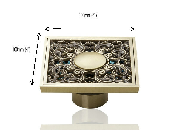 e pak Perfect L5401 1 Antique Brass Gravity Flushing Construction Real Estate Bathroom Floor Drain