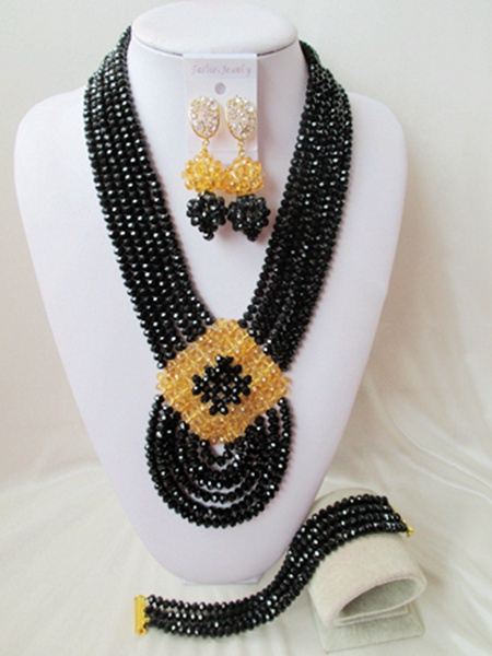 2015 new Fashion african beads Jewelry set crystal beads necklace set nigerian wedding african jewelry set free shipping WI-2541<br><br>Aliexpress